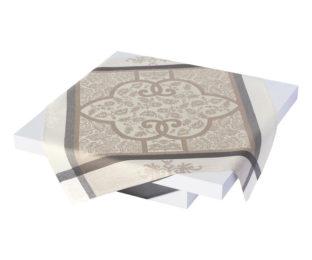 """Льняная квадратная скатерть из длинных волокон """"Siena"""" 175x175 см с рисунком в стиле Ренессанса от Le Jacquard Francais (Франция)"""