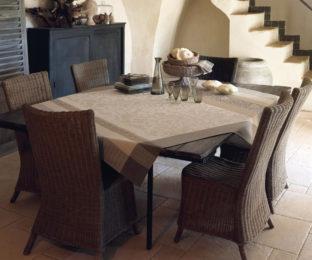 """Хлопковая квадратная скатерть из длинных волокон """"Provence"""" 175x175 см  Le Jacquard Francais (Франция)"""