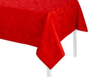 """Хлопковая красная прямоугольная скатерть из длинных волокон """"Ellipse"""" 140x260 см Le Jacquard Francais (Франция)"""