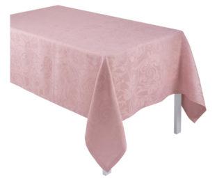 """Льняная розовая прямоугольная скатерть из длинных волокон """"Tivoli"""" 170x320 см Le Jacquard Francais (Франция)"""