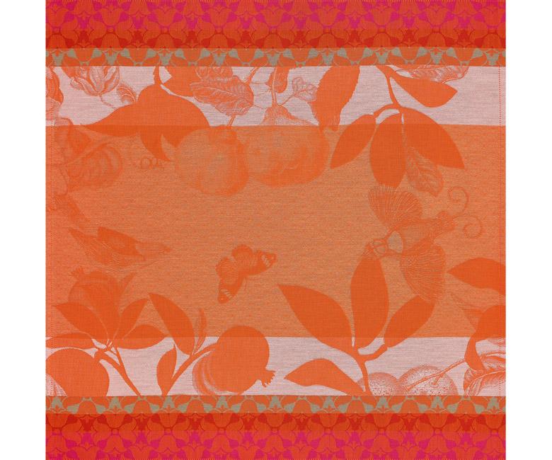 """Хлопковая салфетка из длинных волокон """"Jardin de paradis"""" 58x58 см Le Jacquard Francais (Франция)"""
