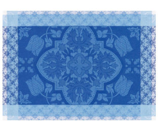 """Хлопковые подстановочные салфетки (плейсматы) из длинных волокон """"Azulejos"""" 54x38 см Le Jacquard Francais (Франция)"""