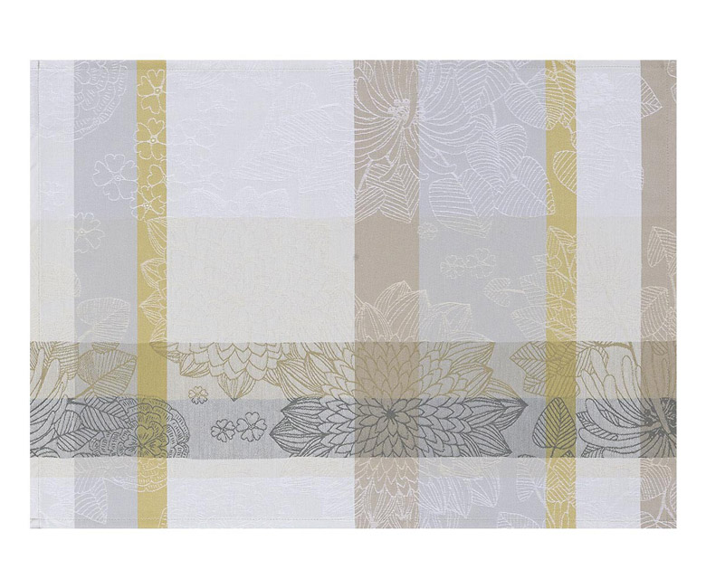 """Хлопковые подстановочные салфетки (плейсматы) из длинных волокон """"Maria Galante"""" 52x38 см с водоотталкивающим акриловым покрытием против пятен и грязи Le Jacquard Francais (Франция)"""