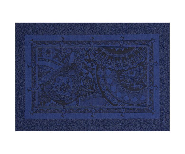 """Хлопковые подстановочные салфетки (плейсматы) из длинных волокон """"Porcelaine"""" 50x36 см Le Jacquard Francais (Франция)"""