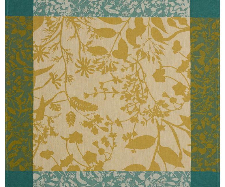 """Хлопковая салфетка из длинных волокон """"Herbes folles"""" 58x58 см Le Jacquard Francais (Франция)"""
